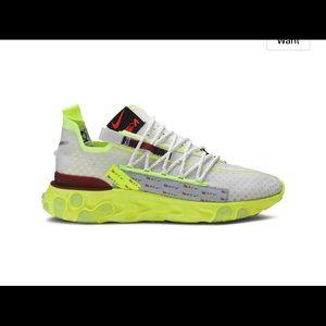 Nike React WR ISPA 'Platinum Volt